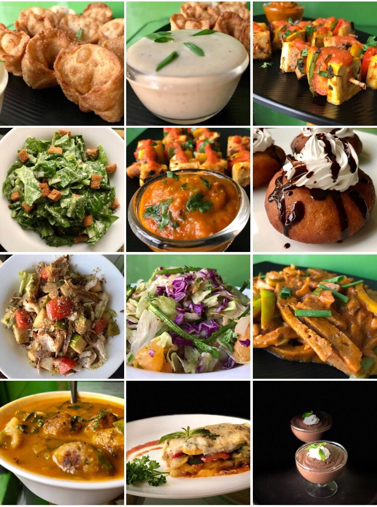 Vegan New Year's Eve Buffet Dishes