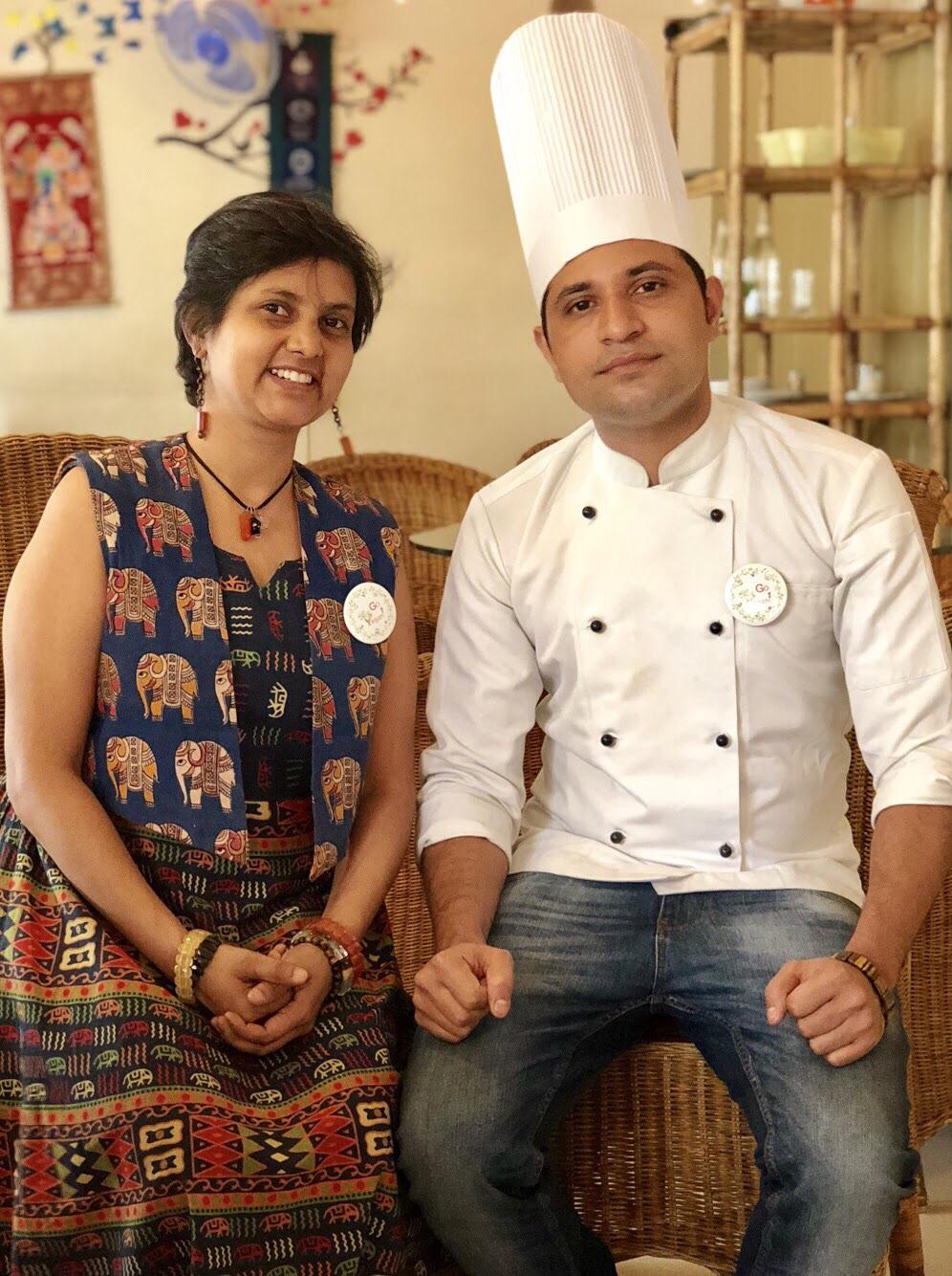 Susmitha Veganosaurus and Chef Ram