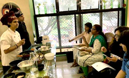 Susmitha Subbaraju (in white) hosts regular vegan workshops at Carrots Restaurant, Koramangala.
